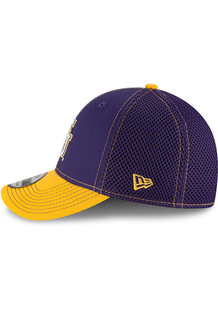 New Era LSU Tigers Mens Purple 2T Neo 39THIRTY Flex Hat - Image 4