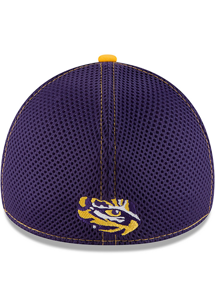 New Era LSU Tigers Mens Purple 2T Neo 39THIRTY Flex Hat - Image 5