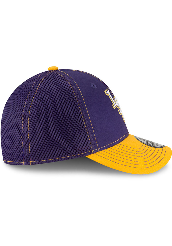 New Era LSU Tigers Mens Purple 2T Neo 39THIRTY Flex Hat - Image 6