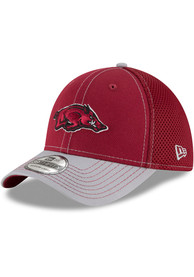 New Era Arkansas Razorbacks Crimson 2T Neo 39THIRTY Flex Hat