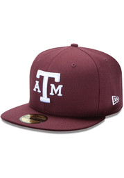 New Era Texas A&M Aggies Mens Maroon College 59FIFTY Fitted Hat