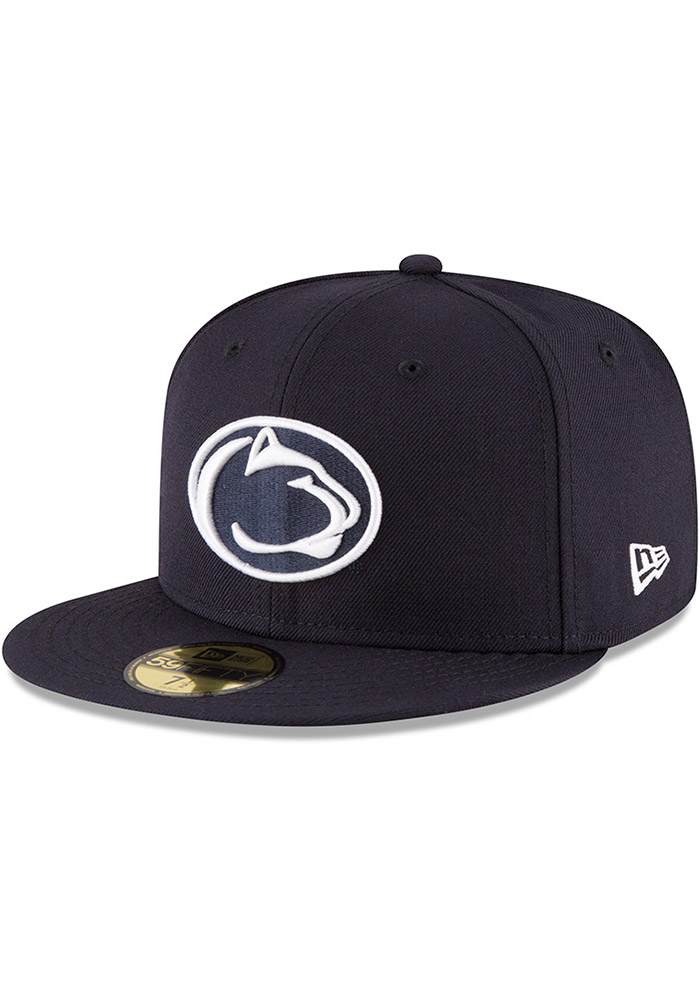 New Era Penn State Nittany Lions Mens Navy Blue College 59FIFTY Fitted Hat - Image 1
