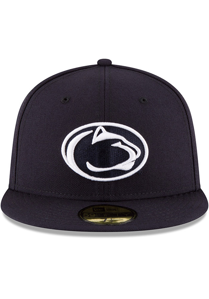 New Era Penn State Nittany Lions Mens Navy Blue College 59FIFTY Fitted Hat - Image 2