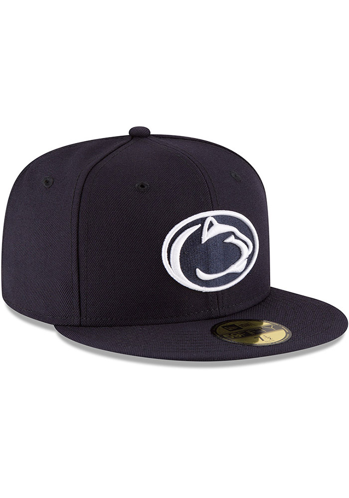 New Era Penn State Nittany Lions Mens Navy Blue College 59FIFTY Fitted Hat - Image 3
