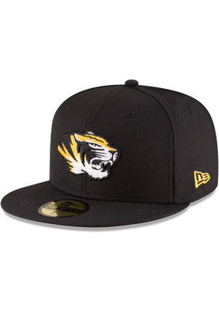 5202a7bf9c7 Missouri Tigers New Era Black College 59FIFTY Fitted Hat