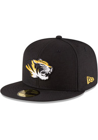 Missouri Tigers New Era College 59FIFTY Fitted Hat - Black