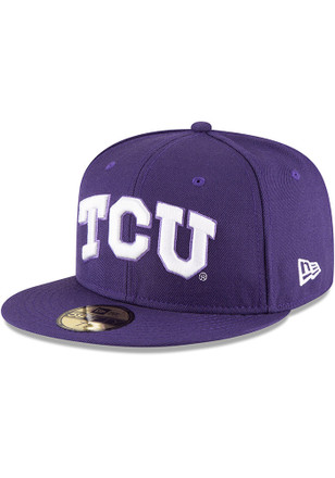Horned Frogs New Era Mens Purple College 59FIFTY Fitted Hat