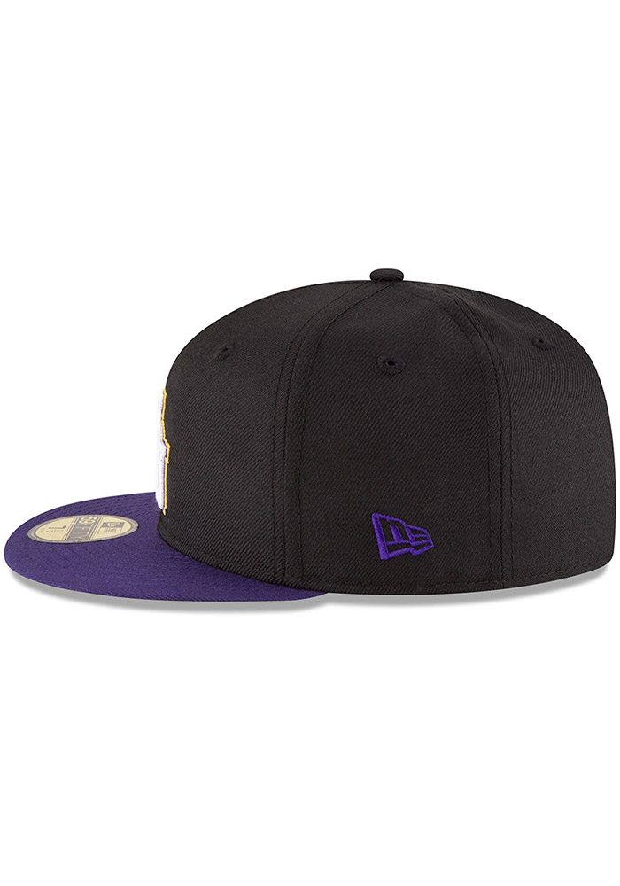 New Era LSU Tigers Mens Black College 59FIFTY Fitted Hat - Image 4