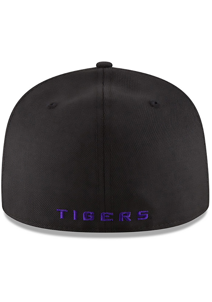 New Era LSU Tigers Mens Black College 59FIFTY Fitted Hat - Image 5