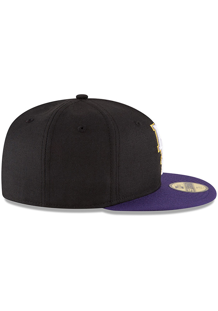 New Era LSU Tigers Mens Black College 59FIFTY Fitted Hat - Image 6