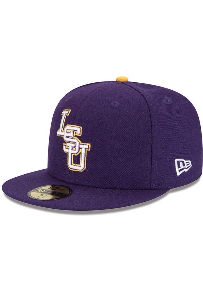 New Era LSU Tigers Mens Purple College 59FIFTY Fitted Hat - 5905292 4d17651eff6