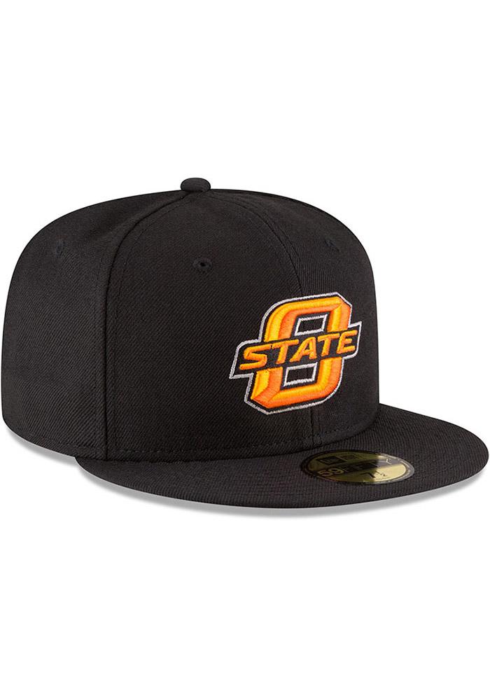 New Era Oklahoma State Cowboys Mens Black College 59FIFTY Fitted Hat - Image 2