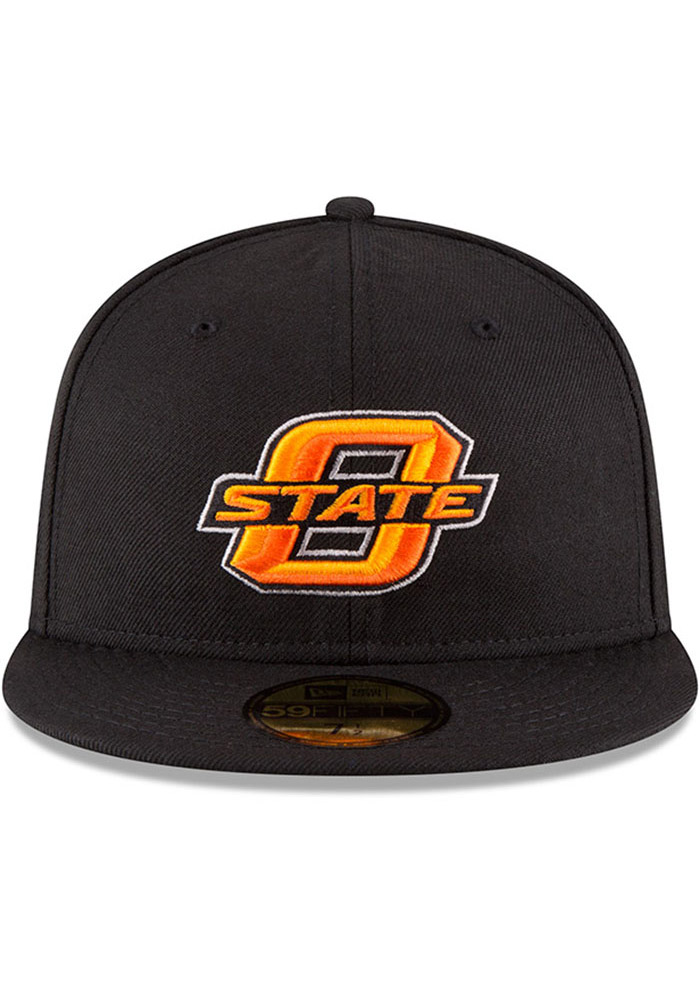 New Era Oklahoma State Cowboys Mens Black College 59FIFTY Fitted Hat - Image 3