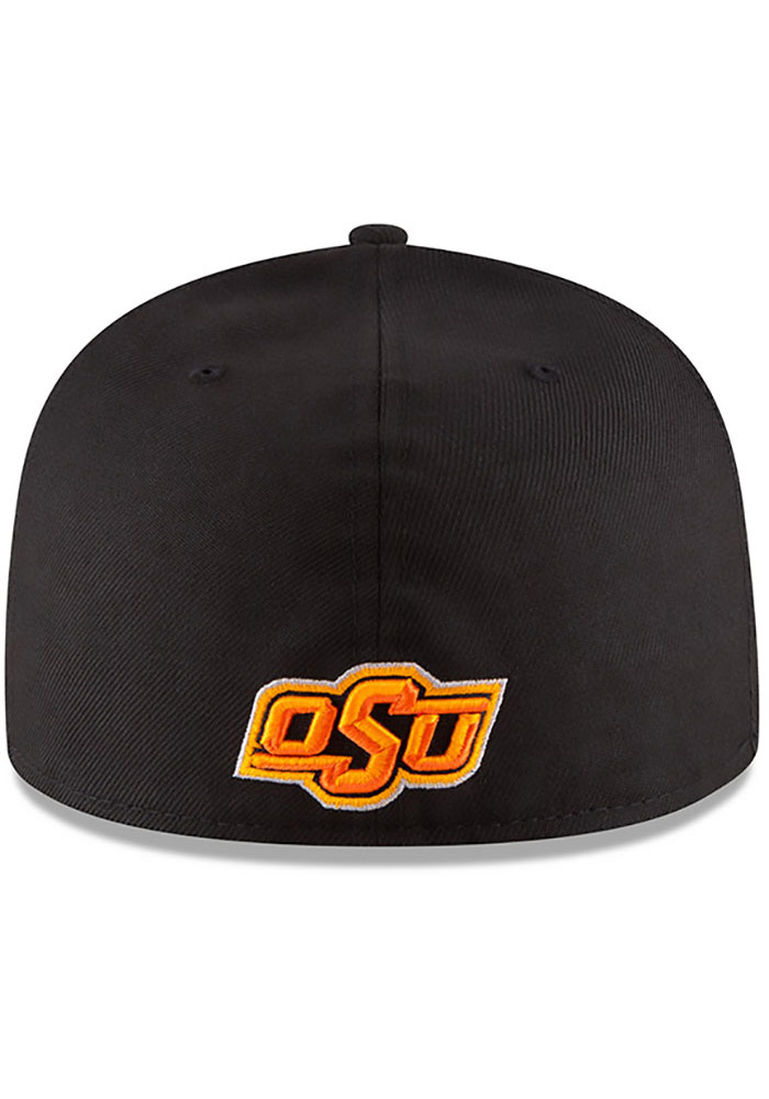 New Era Oklahoma State Cowboys Mens Black College 59FIFTY Fitted Hat - Image 5