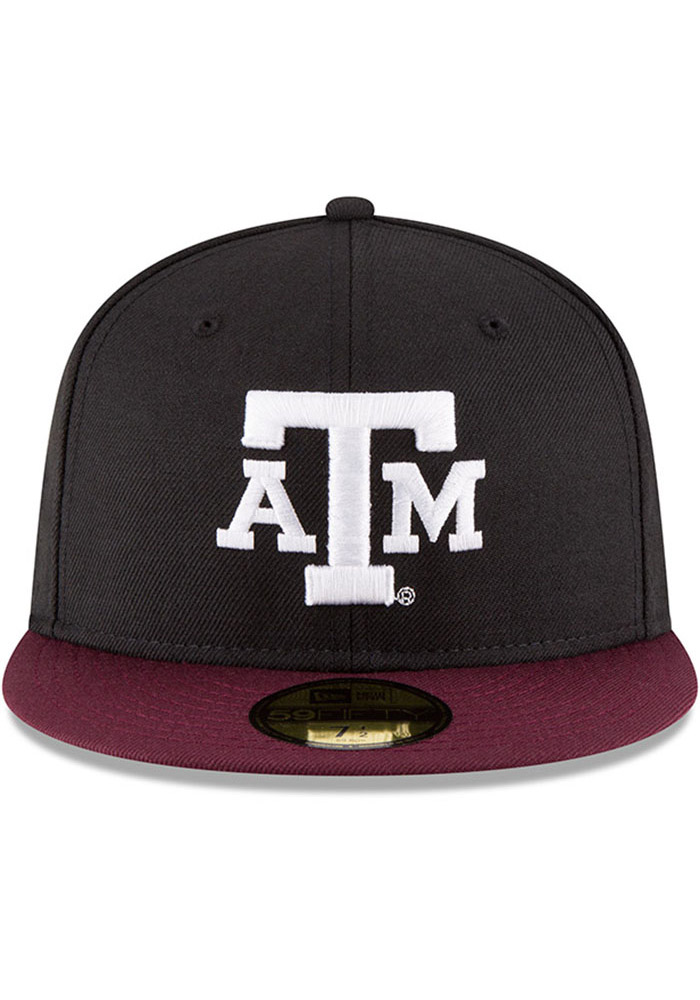 New Era Texas A&M Aggies Mens Black College 59FIFTY Fitted Hat - Image 3