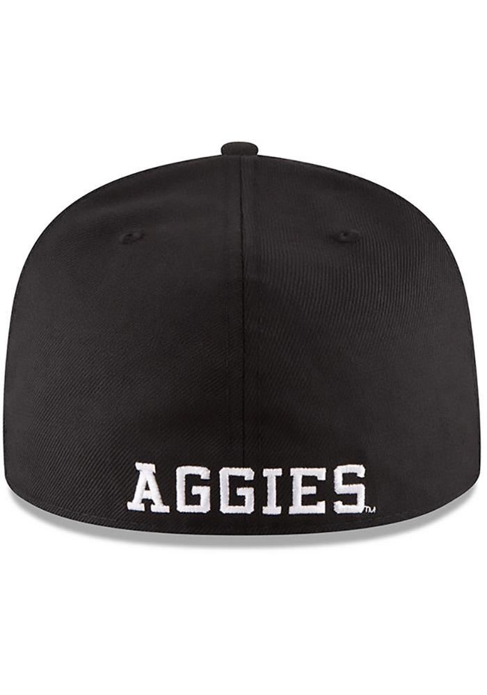 New Era Texas A&M Aggies Mens Black College 59FIFTY Fitted Hat - Image 5