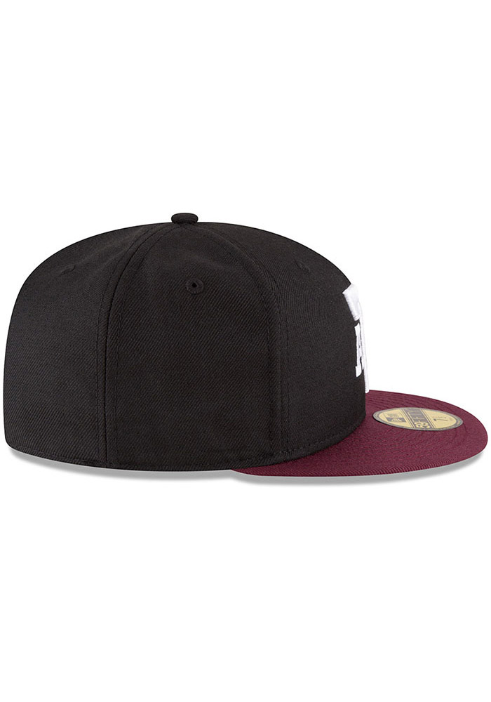 New Era Texas A&M Aggies Mens Black College 59FIFTY Fitted Hat - Image 6