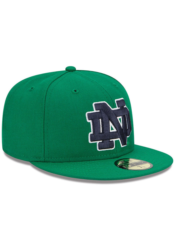 New Era Notre Dame Fighting Irish Mens Kelly Green College 59FIFTY Fitted Hat - Image 2