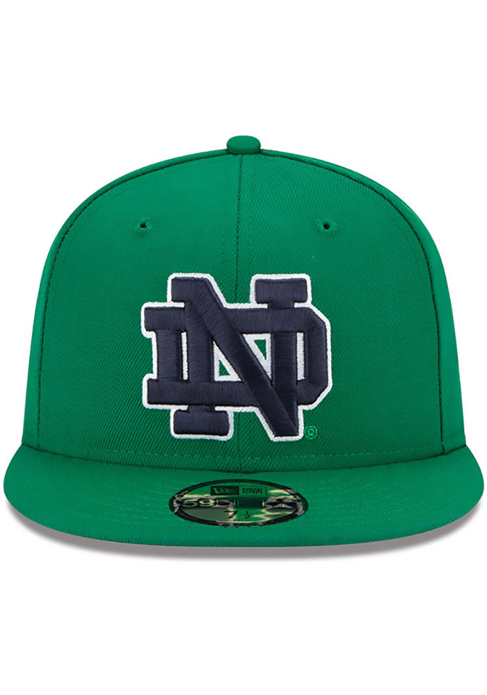 New Era Notre Dame Fighting Irish Mens Kelly Green College 59FIFTY Fitted Hat - Image 3