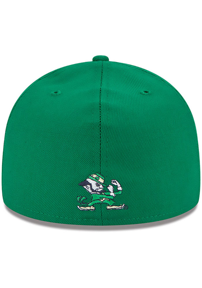New Era Notre Dame Fighting Irish Mens Kelly Green College 59FIFTY Fitted Hat - Image 4