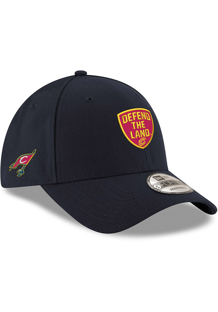 New Era Cleveland Cavaliers Mens Navy Blue Defend the Land 9FORTY Adjustable Hat - Image 2
