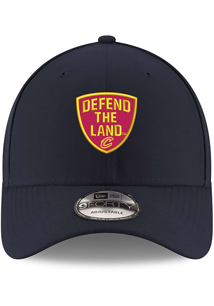 New Era Cleveland Cavaliers Mens Navy Blue Defend the Land 9FORTY Adjustable Hat - Image 3