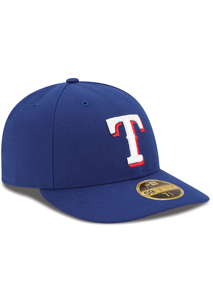 New Era Texas Rangers Mens Blue AC Game LC 59FIFTY Fitted Hat - Image 2