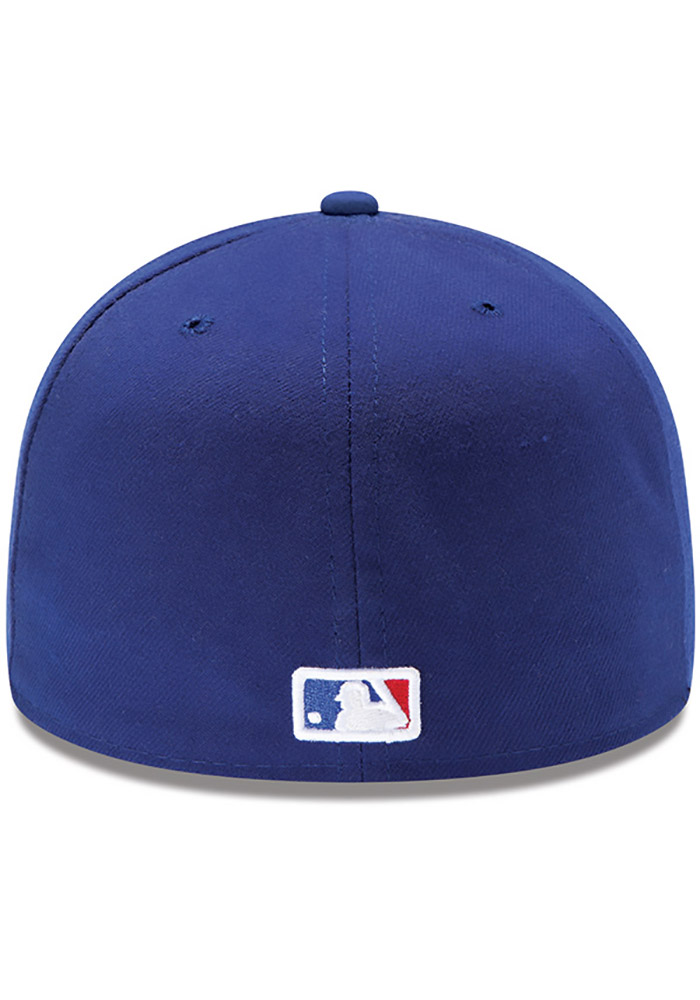 New Era Texas Rangers Mens Blue AC Game LC 59FIFTY Fitted Hat - Image 4