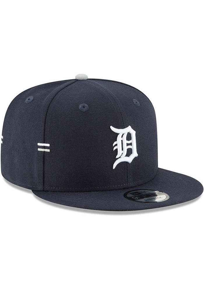 sports shoes 95e93 69eec New Era Detroit Tigers Navy Blue Hasher Snap 9FIFTY Mens Snapback Hat -  Image 2
