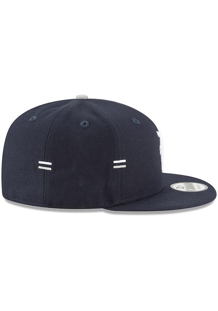pretty nice 08ab8 ed79d New Era Detroit Tigers Navy Blue Hasher Snap 9FIFTY Mens Snapback Hat -  Image 6
