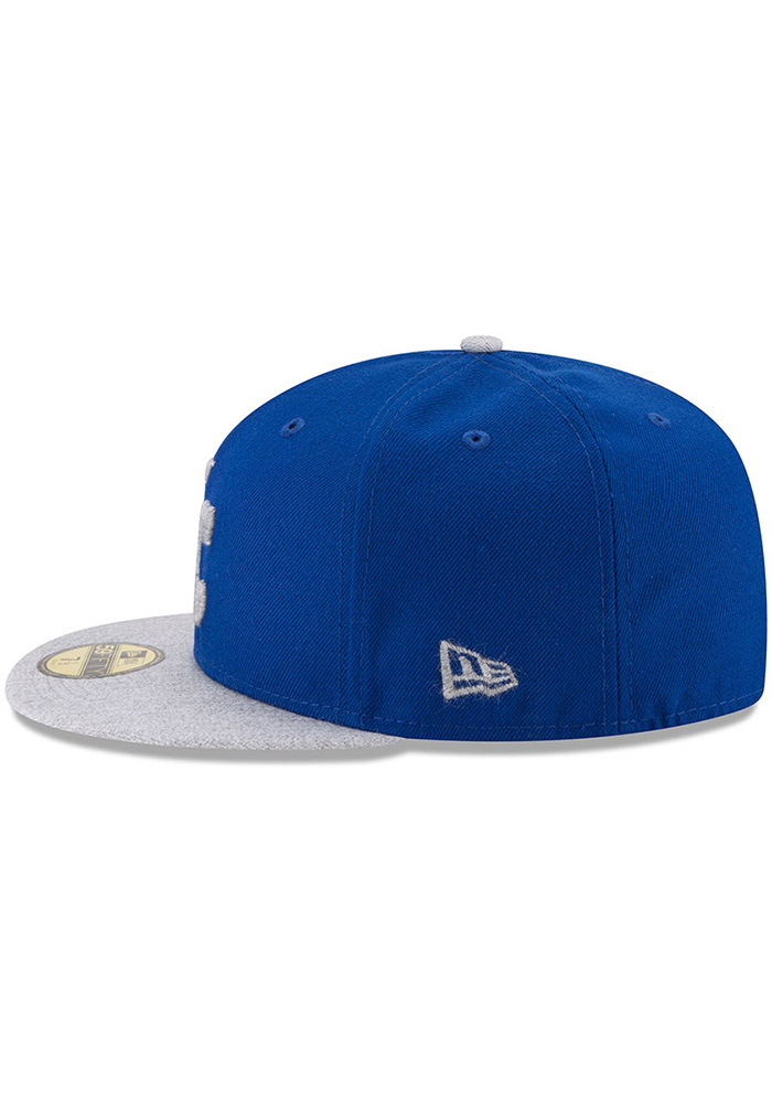 New Era Kansas City Royals Mens Blue Heather Fresh Fit 59FIFTY Fitted Hat - Image 4