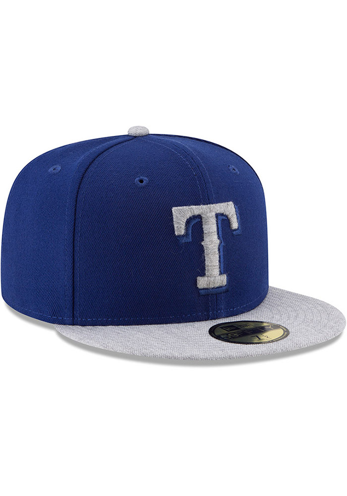 New Era Texas Rangers Mens Blue Heather Fresh Fit 59FIFTY Fitted Hat - Image 2