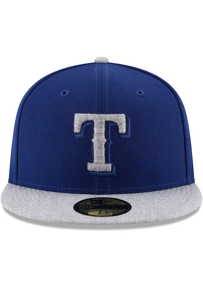 New Era Texas Rangers Mens Blue Heather Fresh Fit 59FIFTY Fitted Hat - Image 3