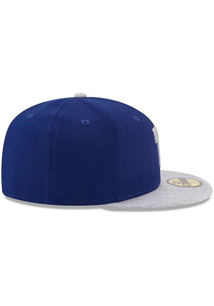 New Era Texas Rangers Mens Blue Heather Fresh Fit 59FIFTY Fitted Hat - Image 6