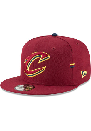 New Era Cleveland Cavaliers Mens Maroon Hasher Snap 9FIFTY Snapback Hat