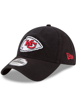 New Era Kansas City Chiefs Mens Black Core Classic Black 9TWENTY Adjustable Hat