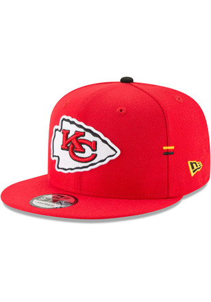 New Era Kansas City Chiefs Mens Red Hasher Snap 9FIFTY Snapback Hat