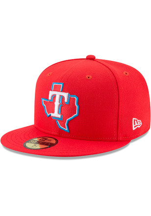 Texas Rangers New Era Mens Red Little League Classic 59FIFTY Fitted Hat