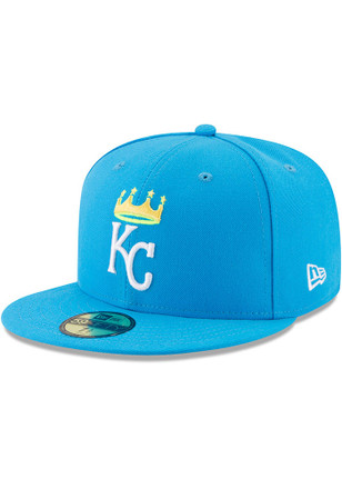 Kansas City Royals New Era Mens Blue Little League Classic 59FIFTY Fitted Hat