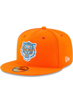 Detroit Tigers New Era Mens Orange Little League Classic 59FIFTY Fitted Hat