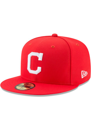 Cleveland Indians New Era Mens Red Little League Classic 59FIFTY Fitted Hat