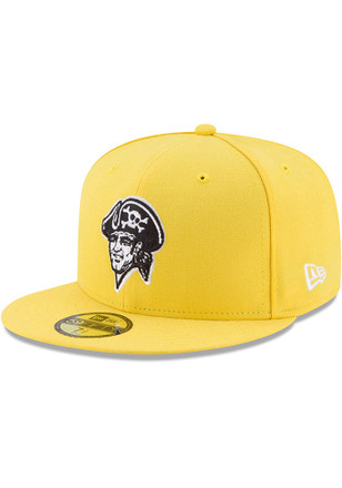Pittsburgh Pirates New Era Mens Yellow Little League Classic 59FIFTY Fitted Hat