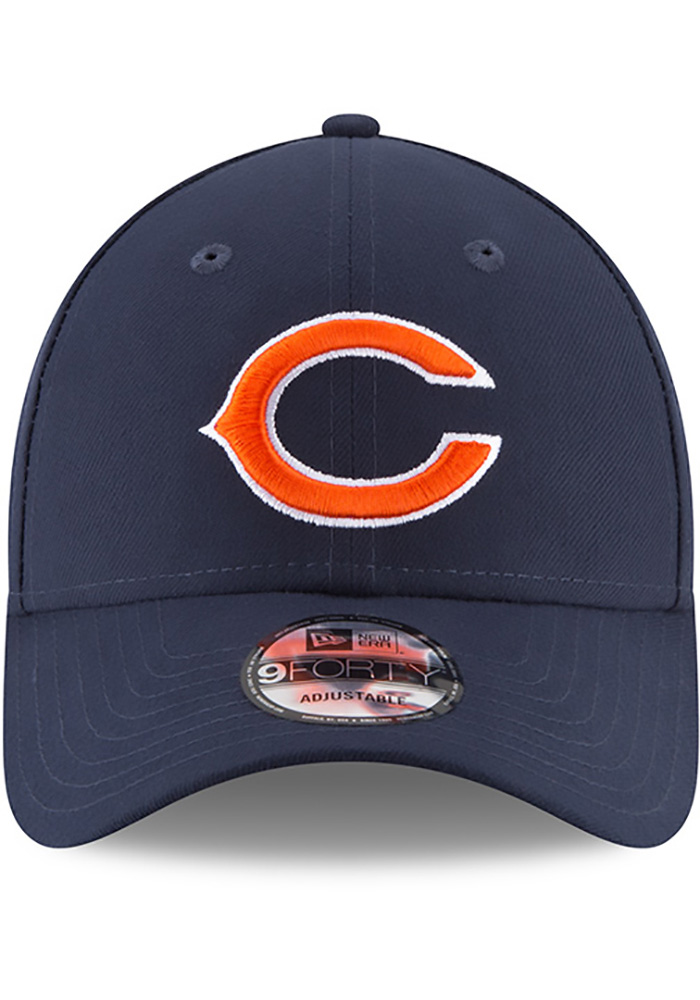 New Era Chicago Bears The League 9FORTY Adjustable Hat - Navy Blue - Image 3