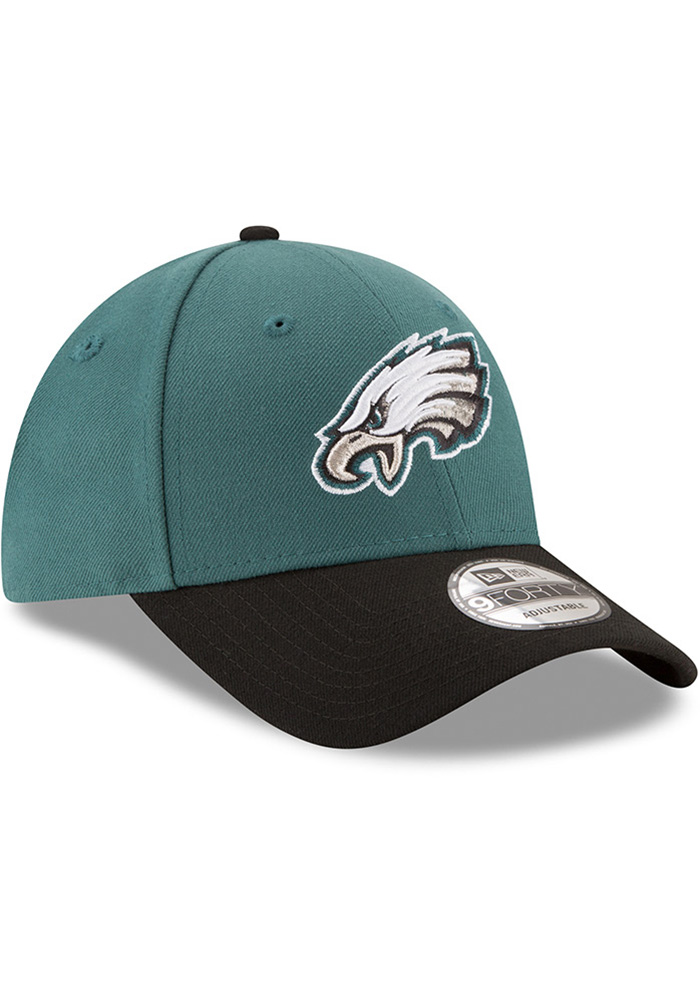New Era Philadelphia Eagles The League 9FORTY Adjustable Hat - Midnight Green - Image 1
