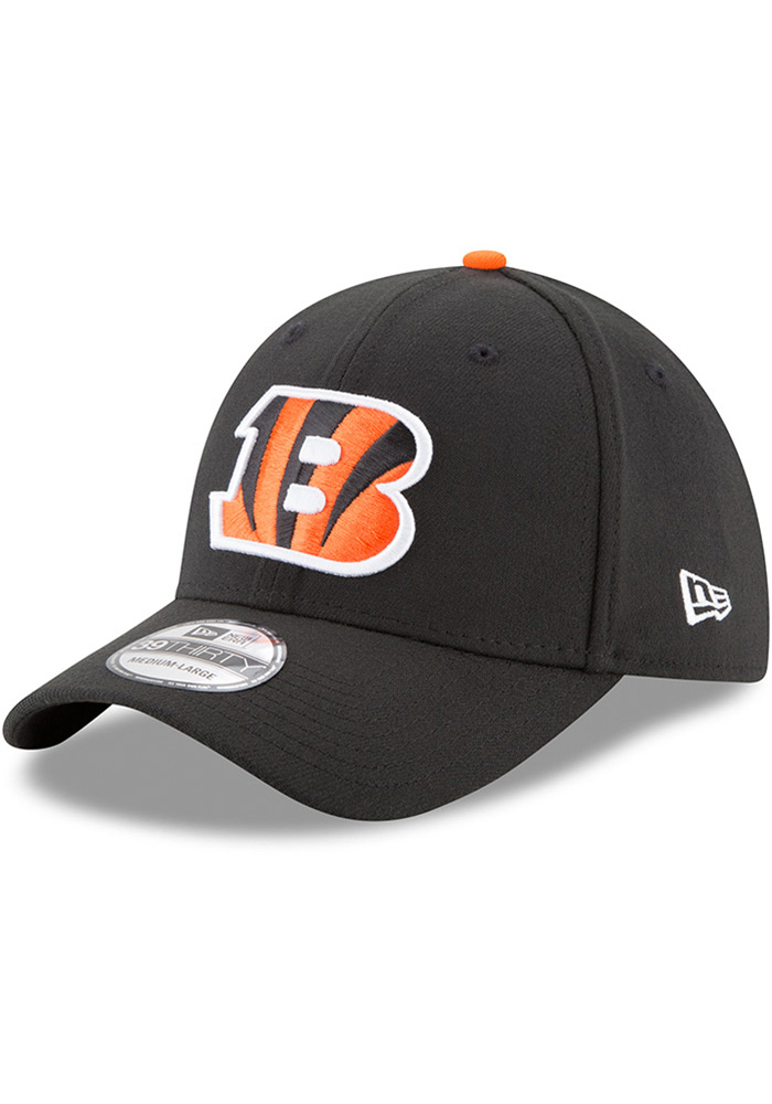 New Era Cincinnati Bengals Black Team Classic 39THIRTY Flex Hat