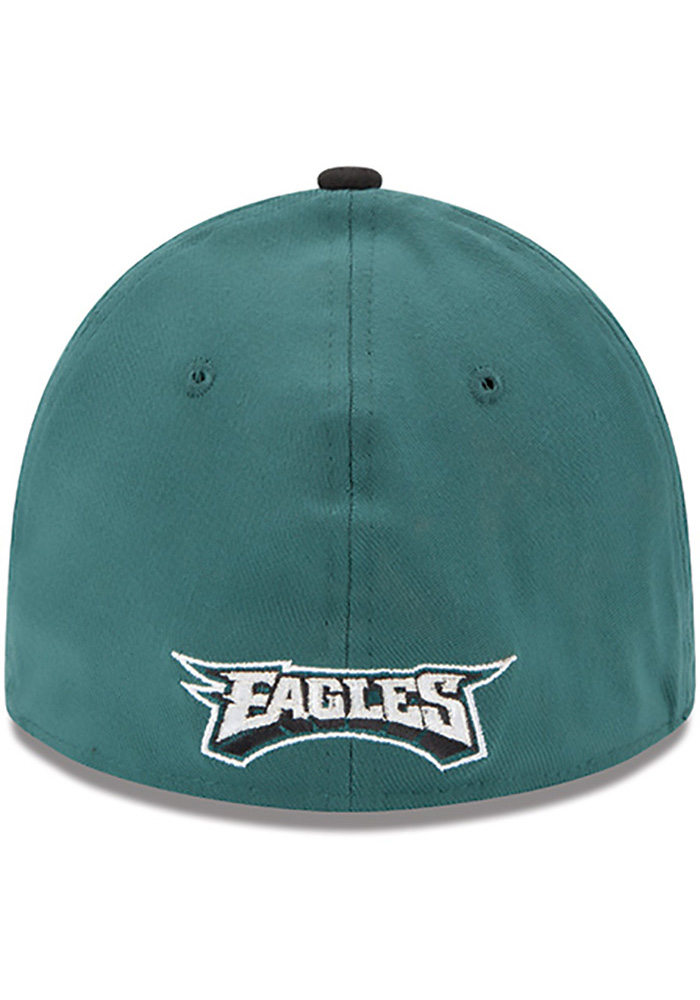 New Era Philadelphia Eagles Mens Midnight Green Team Classic 39THIRTY Flex  Hat - Image 4 9c595adcf