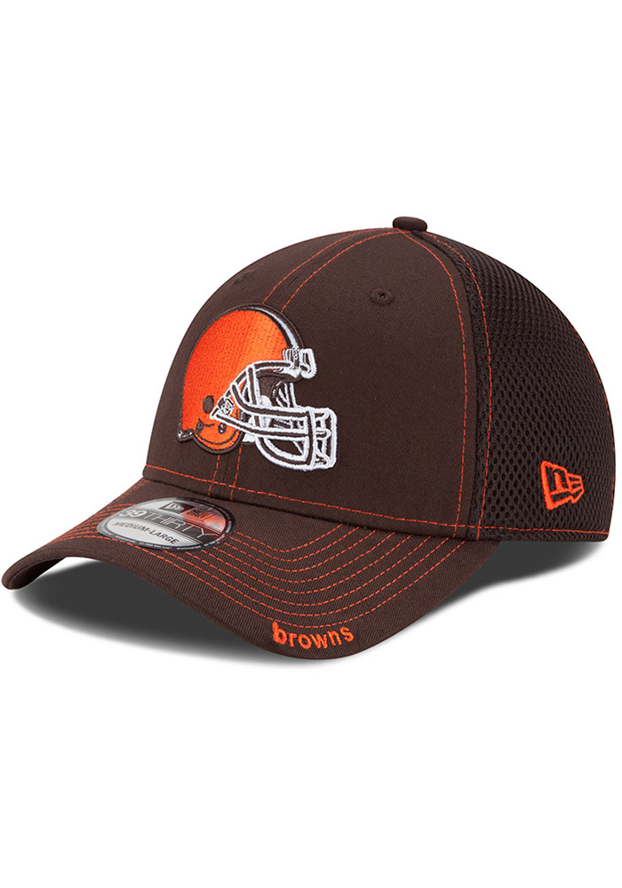 new style a6721 45f1e ... where to buy new era cleveland browns brown team neo 39thirty flex hat  729e0 e4762