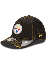 New Era Pittsburgh Steelers Black Team Neo 39THIRTY Flex Hat