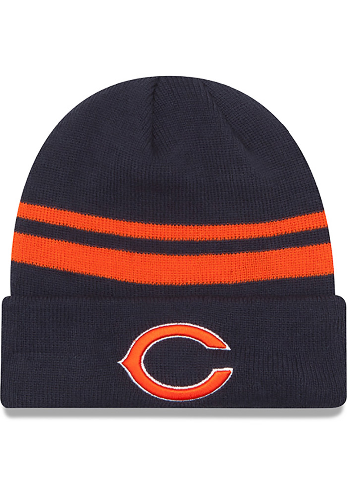 New Era Chicago Bears Navy Blue Cuff Mens Knit Hat - Image 1