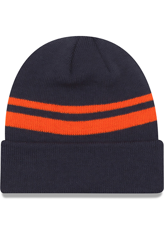 New Era Chicago Bears Navy Blue Cuff Mens Knit Hat - Image 2